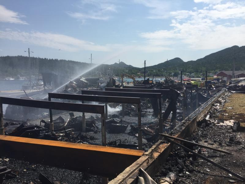 Fish Plant Fire - Long Cove - July 2016