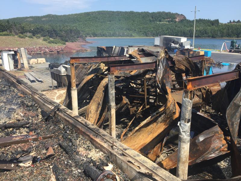 Fish Plant Fire - Long Cove - July 2016