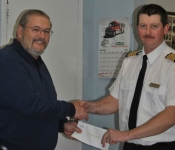 MHA Calvin Peach with NCLCFD Fire Chief Colin Newhook