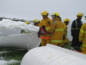 Fire Fighter Michael Williams - Training on Foam Nozzle